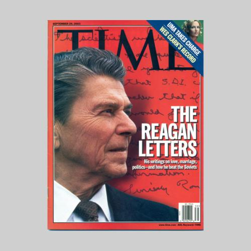 Time magazine september 29, 2003. Picture taken during the 1980 presidential campaign