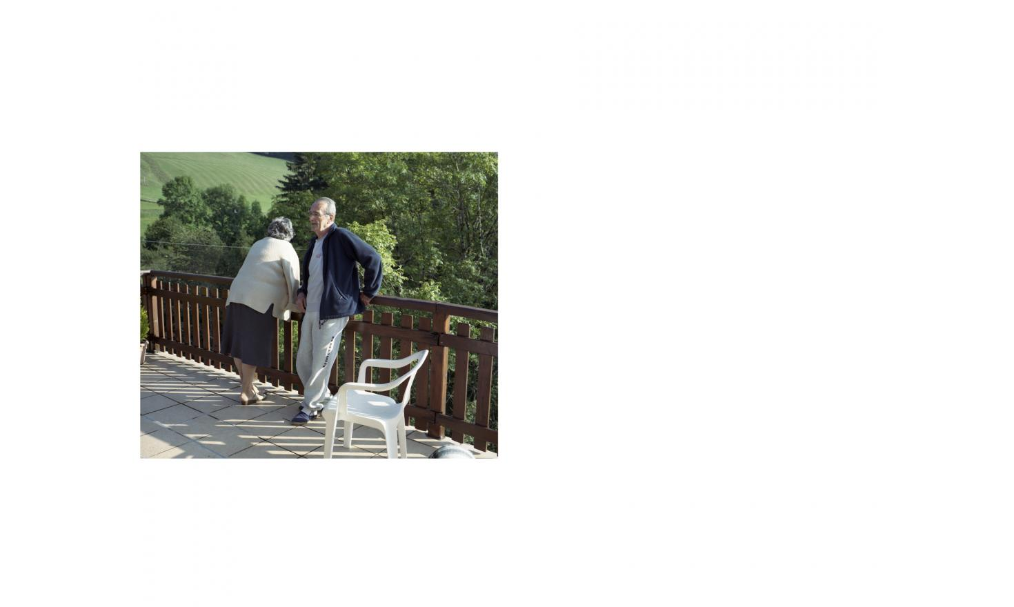 Robert and Raymonde, widower and widow, partner since 2009 in the Vercors, France 26th of September 2014
