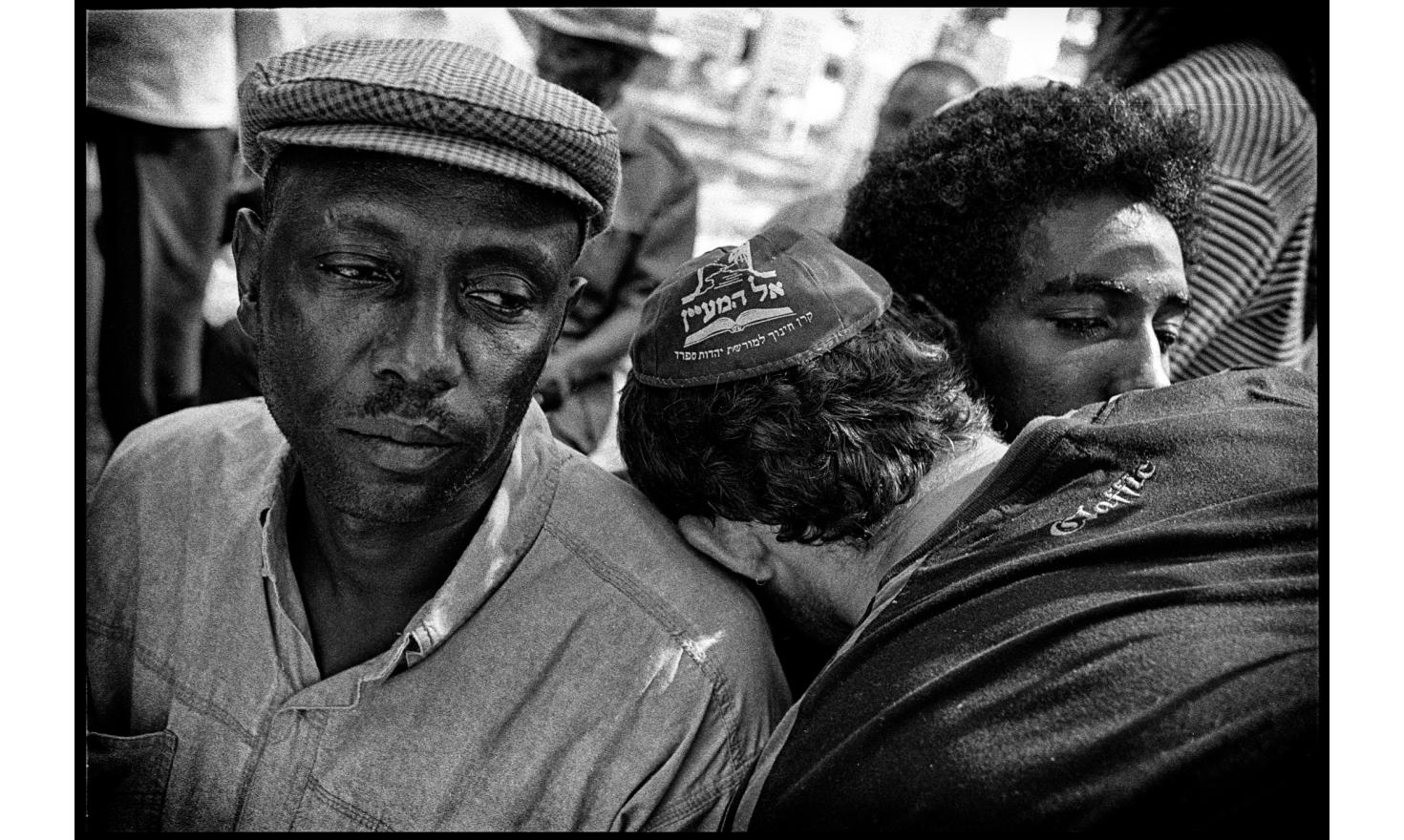 Funerals of two children of ethiopian origin killed by a quassam rocket sent from Gaza. Sderot, Israel. November 2004.
