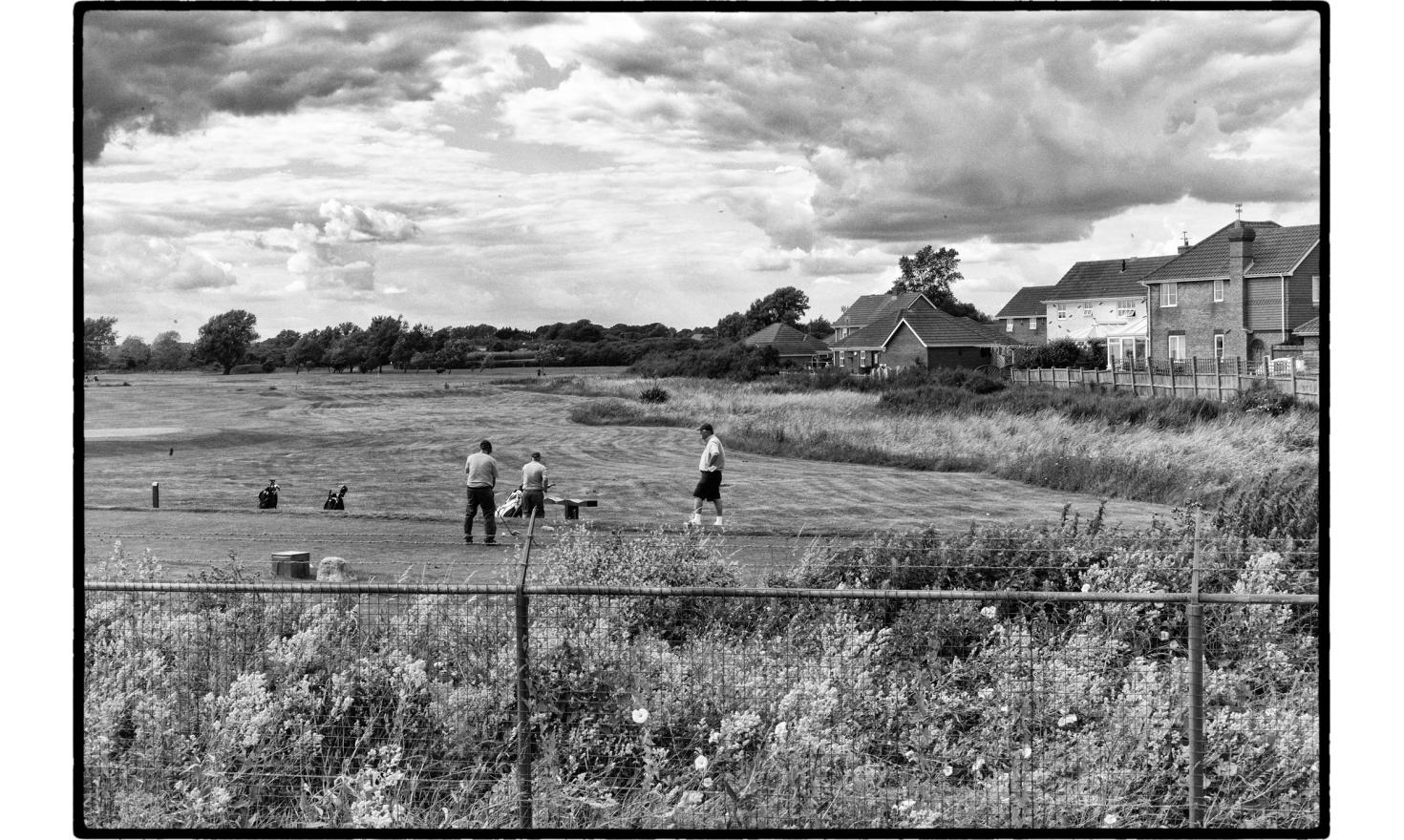 A golf course stands between Clacton and Jaywick. Clacton on sea, England. July 2016