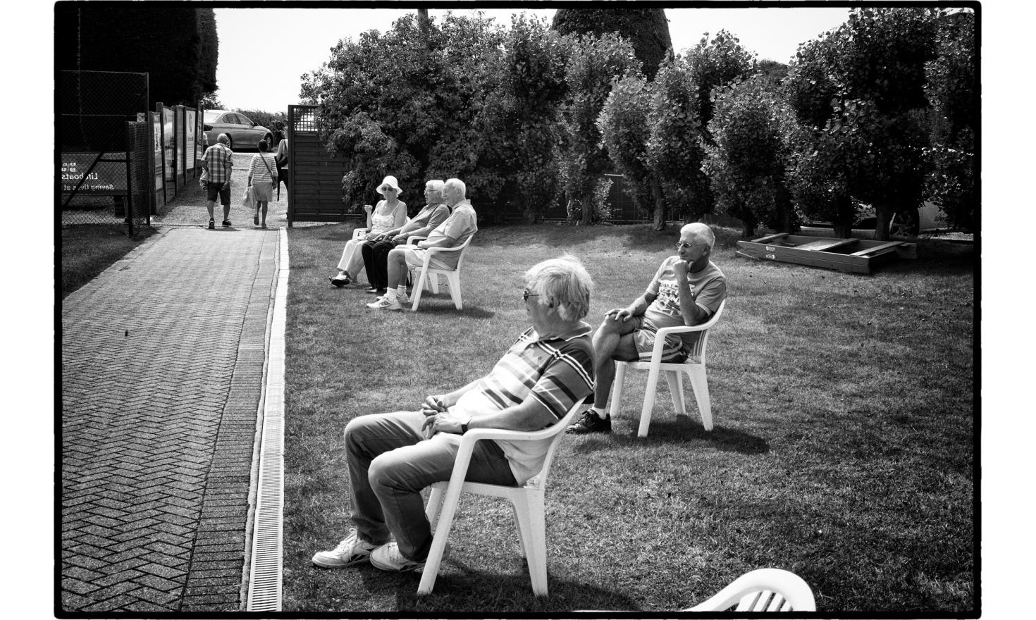 "Spectators at the senoir final, tennis tounament in frinton, a very fancy toxn near Clacton. The Trending district has voted at 65% for the""leave""the EU. Frinton, England. July 2016"