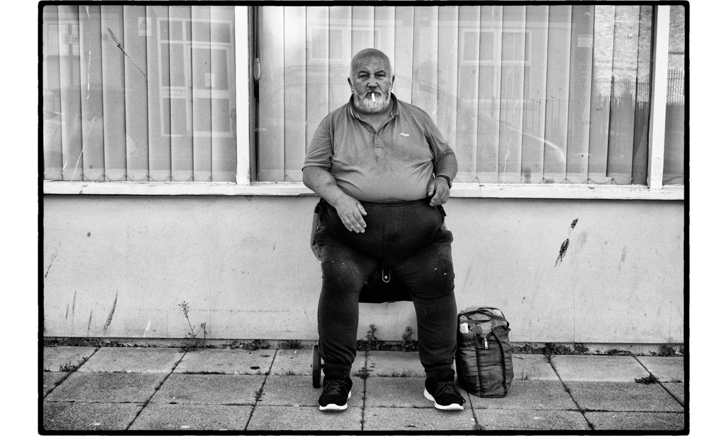 "As I was going to the railway station, very early morning, the man  greeted me with a"" hello, how are you"". I realized after that I saw him the night before at the same place. Clacton on sea, England. July 2016."