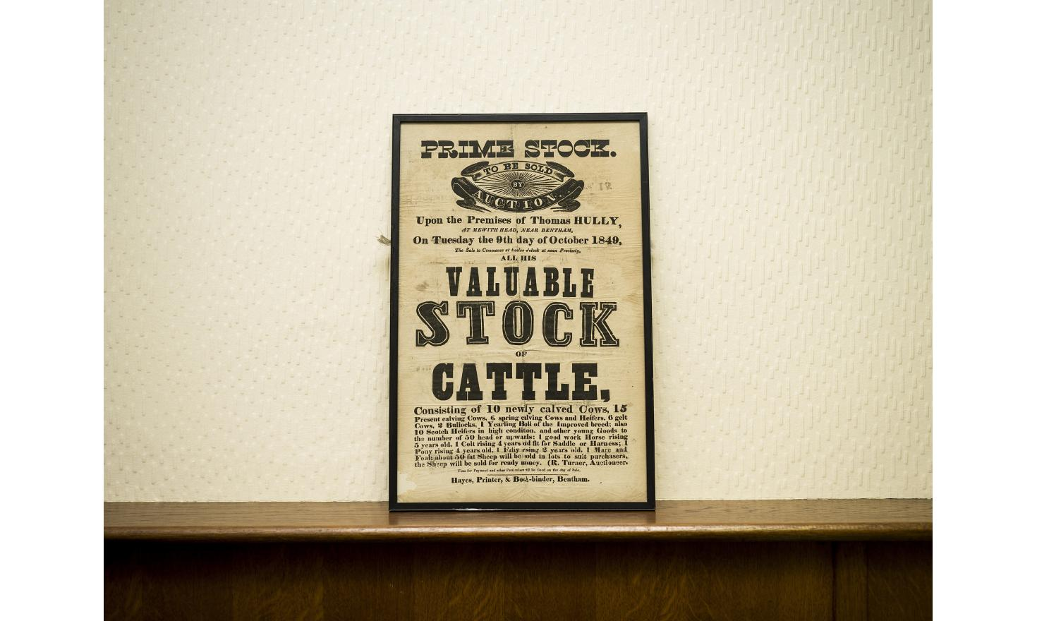 In the office of Stephen Dennis, an auctioneer at Bentham Auction Mart, in North Yorkshire.