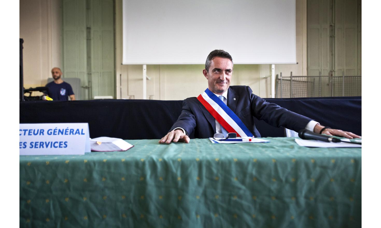 Marseille, April 11, 2014. Stephane Ravier has been elected. He is the new mayor.