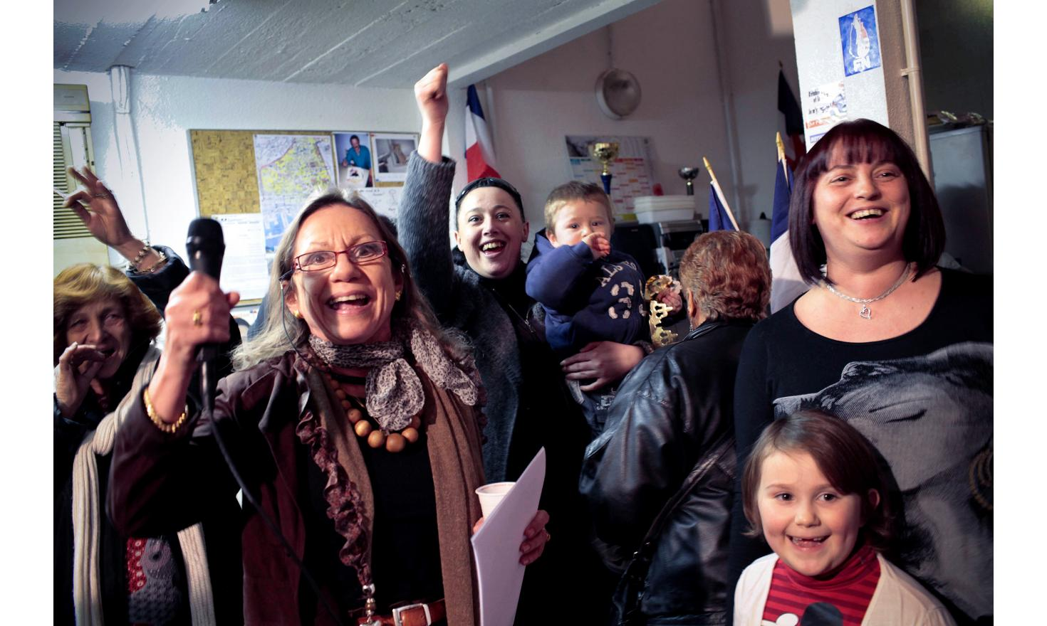 Marseille, January 26, 2011. The Only office of the National Front in Marseille, belong to Marie-Claude Aucouturier. She appeared at the cantonal elections.