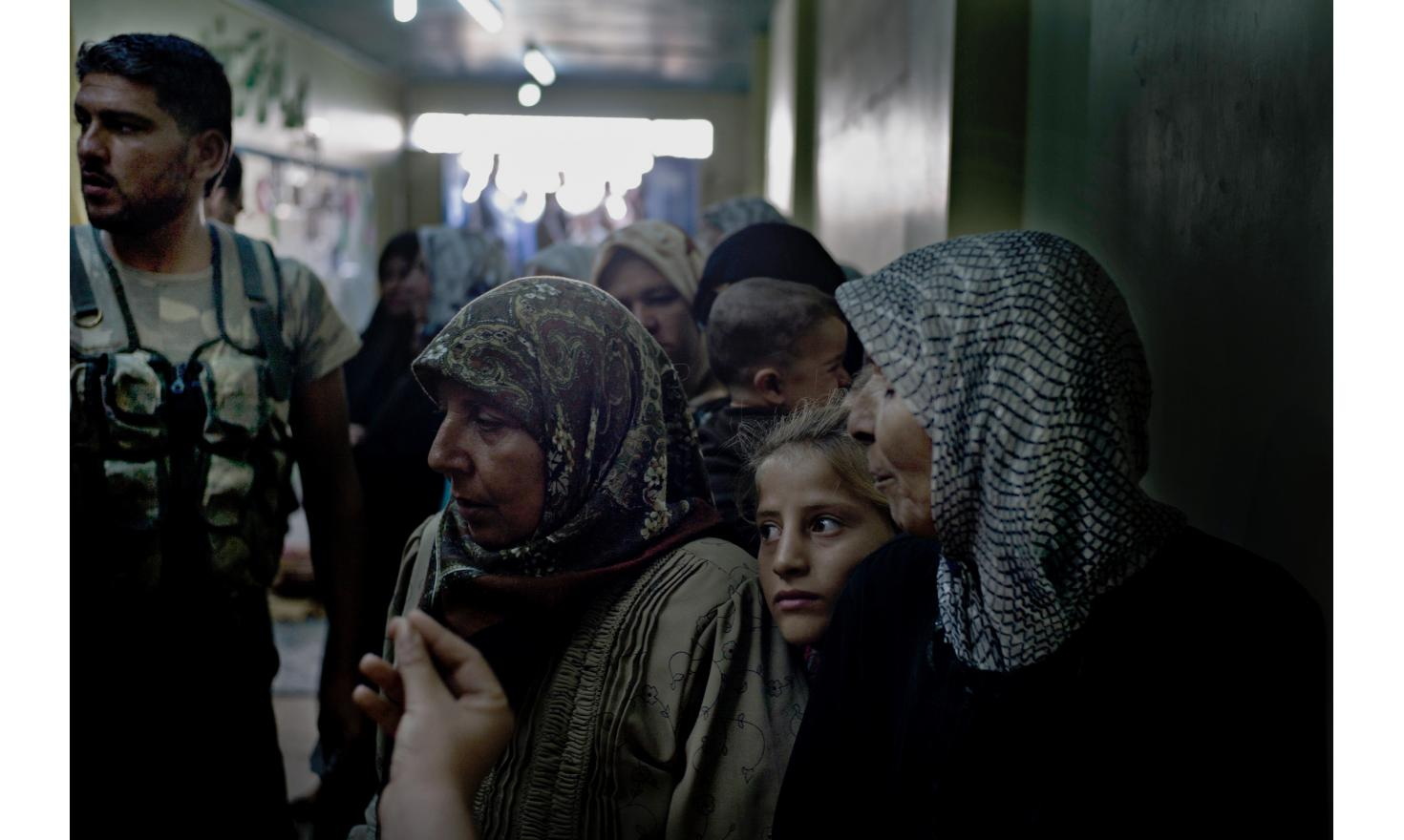 Refugees fed by the ASL in AZZAZ