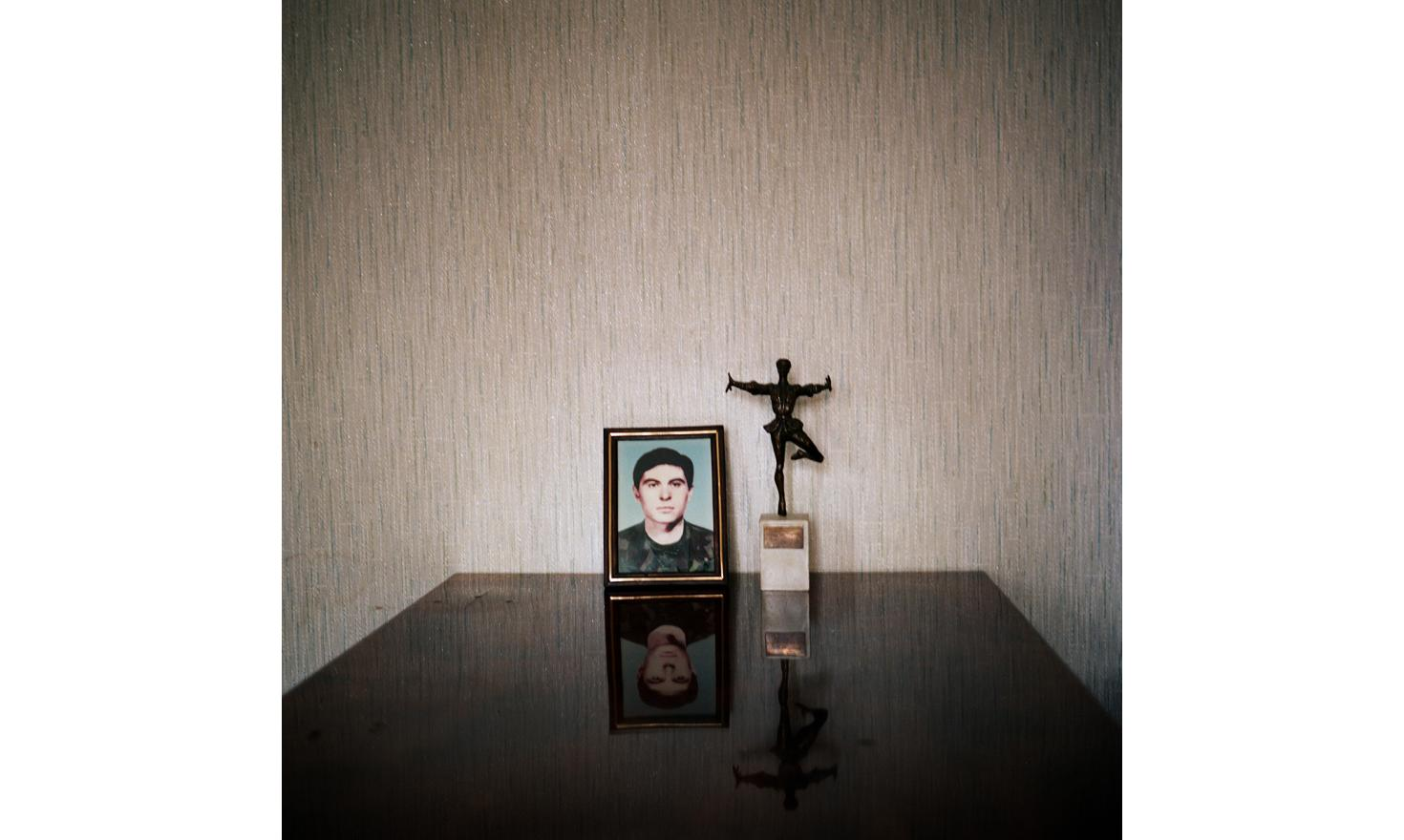 Picture of a soldier, a georgian from Abkhazia, in the appartment of his father who lives now in Rustavi, a city in Tbilissi suburb. He died during the fight against the Abkhazs during the war between Abkhazia and Georgia.