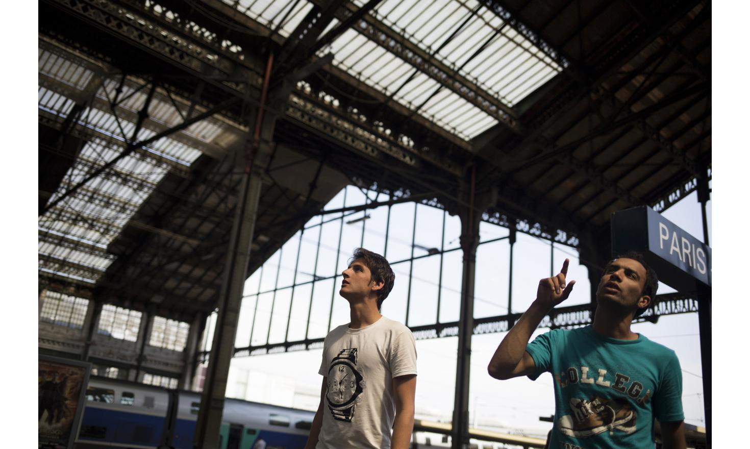 Paris, France 02/08/2013 Luqman and Fawad arrive in Gare de Lyon, one of the train station in Paris without being arrested by the police.