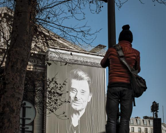 Tribute to Johnny Halliday in Paris