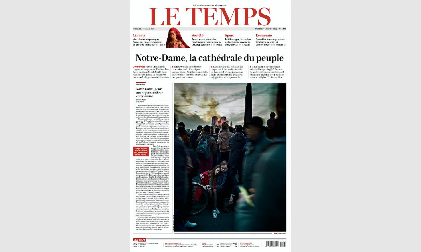 Le Temps, 2019