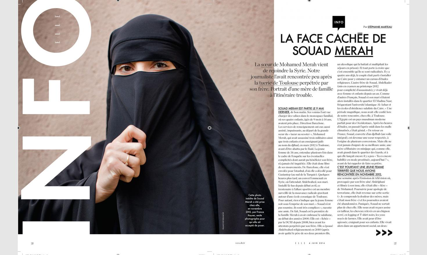 Toulouse, October 29, 2012. Souad Merah, sister of Mohamed Merah, french terrorist, perpetrator of Toulouse and Montauban shootings.