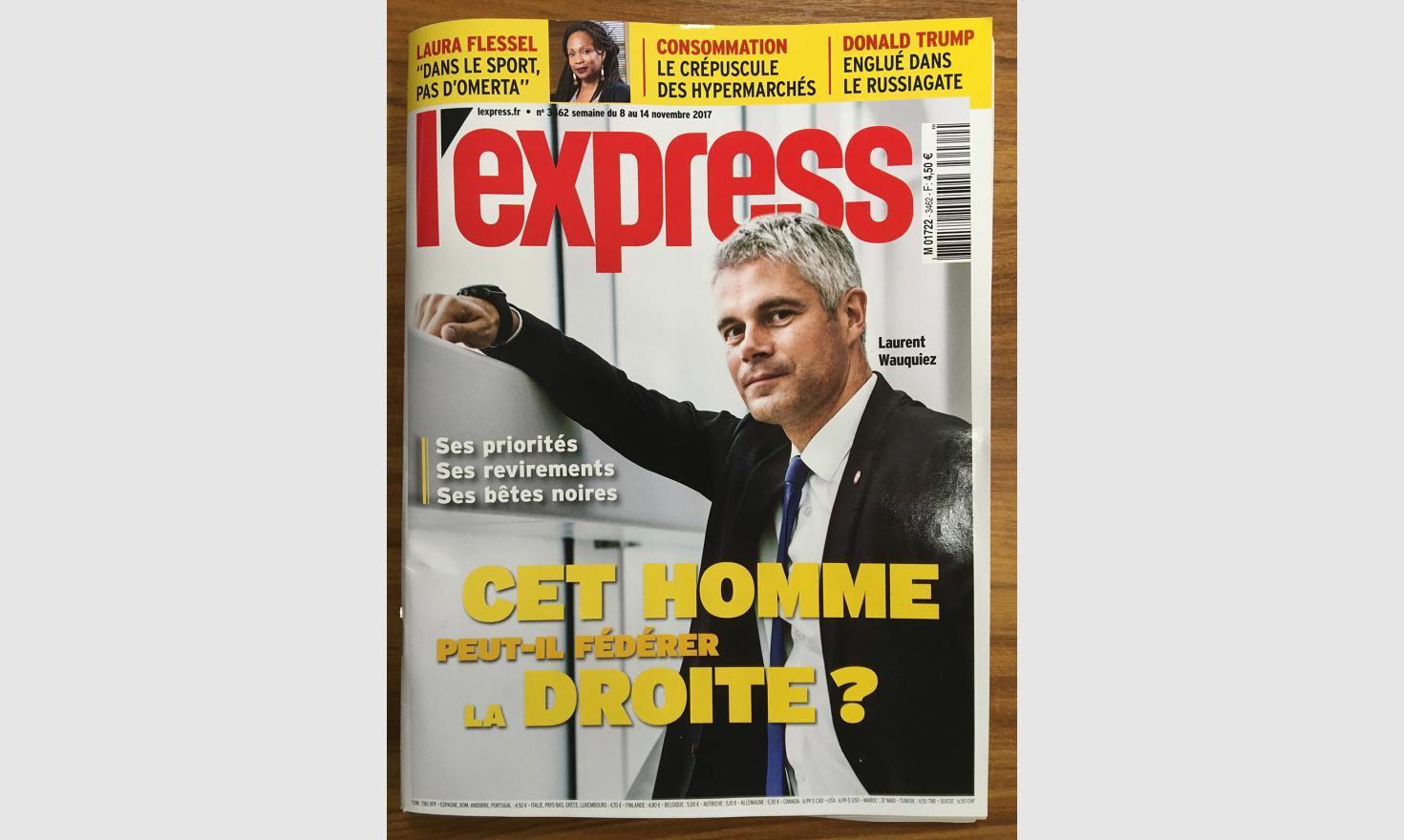 Laurent Wauquiez_cover l'Express