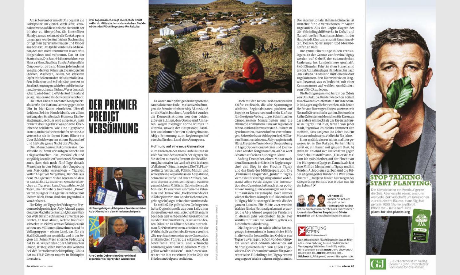 Stern. Sudan: guerre du Tigré, sur l'autre rive
