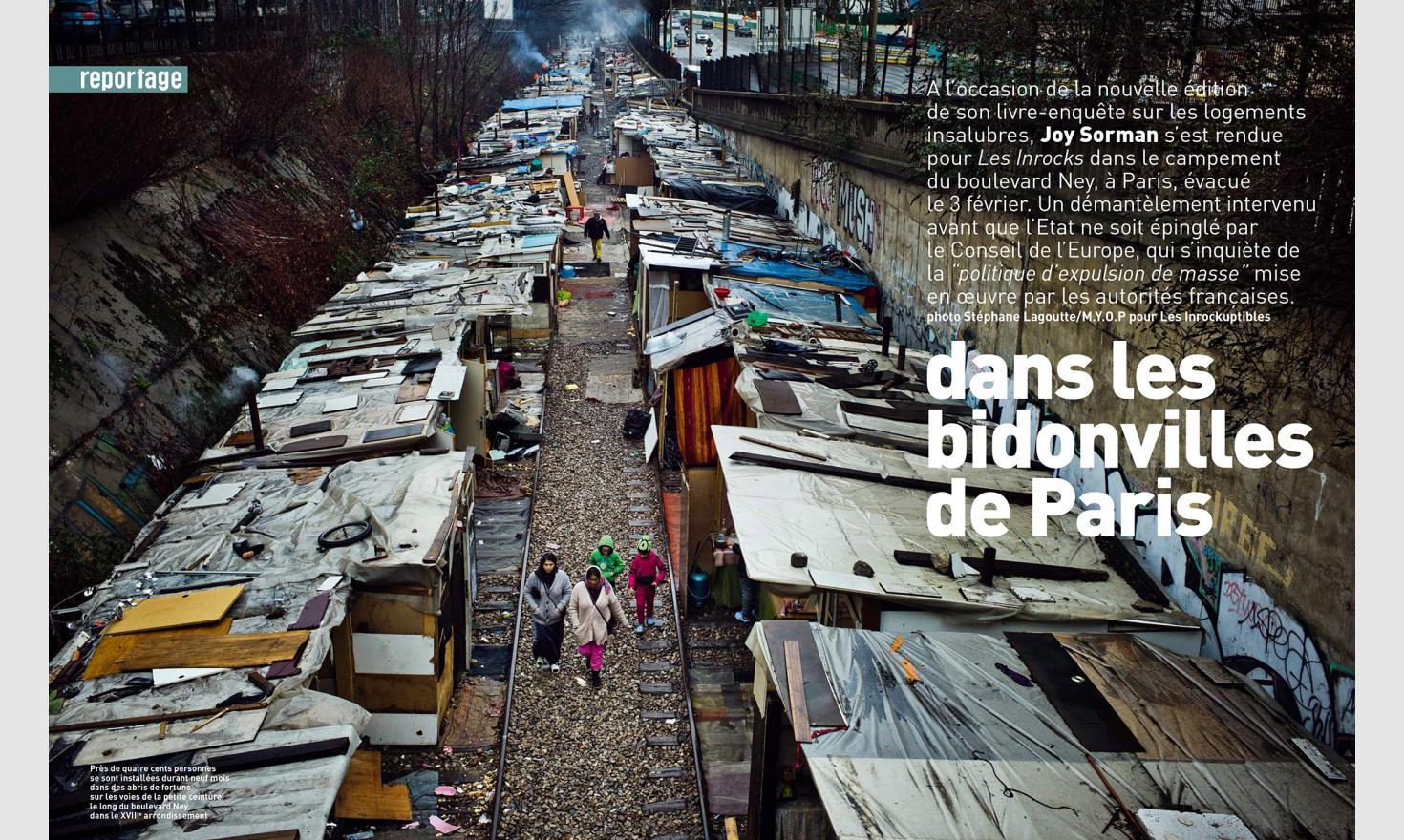 Dans les bidonvilles de Paris