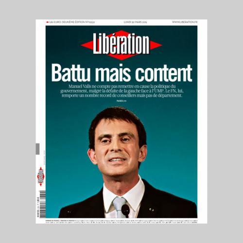 Couv Libération. Manuel Valls