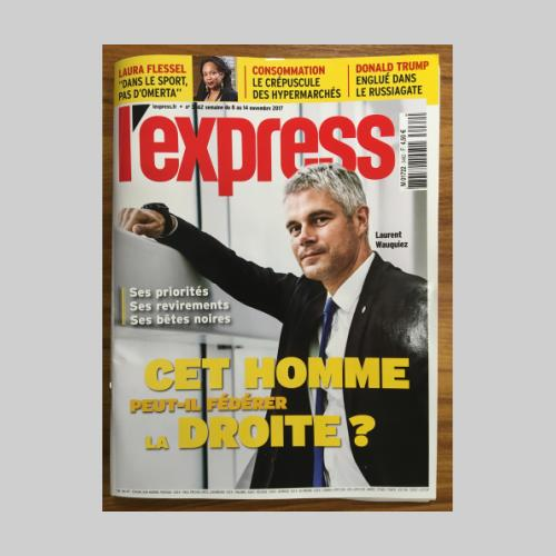 Laurent Wauquiez_cover l'Express