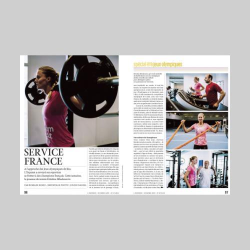 L'Express. Kristina Mladenovic